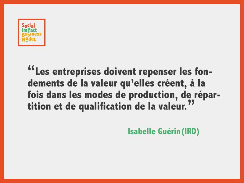 Isabelle Guérin : «Les entrepreneurs sociaux ont une grande responsabilité dans le type de discours qu'ils véhiculent.»