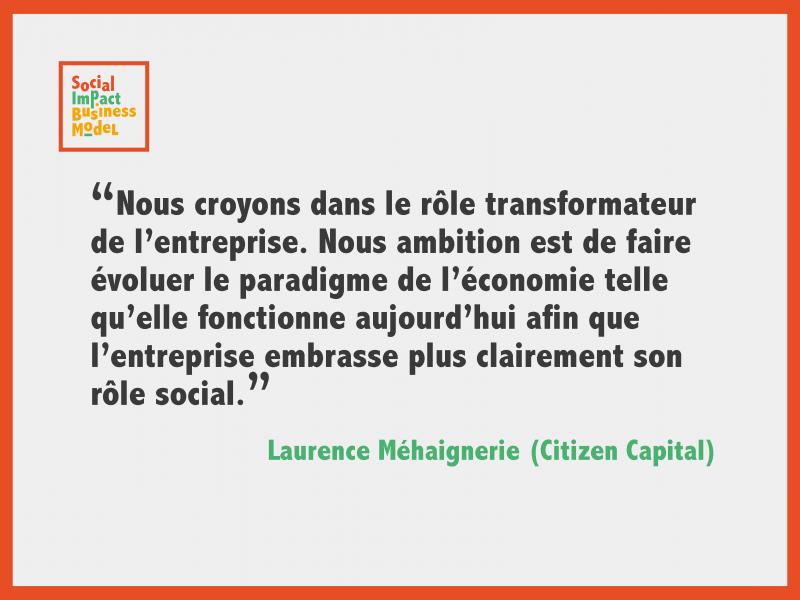 Laurence Méhaignerie: «On peut développer de très belles entreprises qui relèvent des défis sociaux ou environnementaux. »
